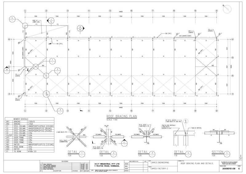 steel building plans drawings
